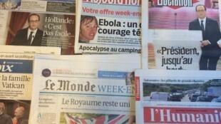 Primeiras páginas jornais franceses 19/09/2014