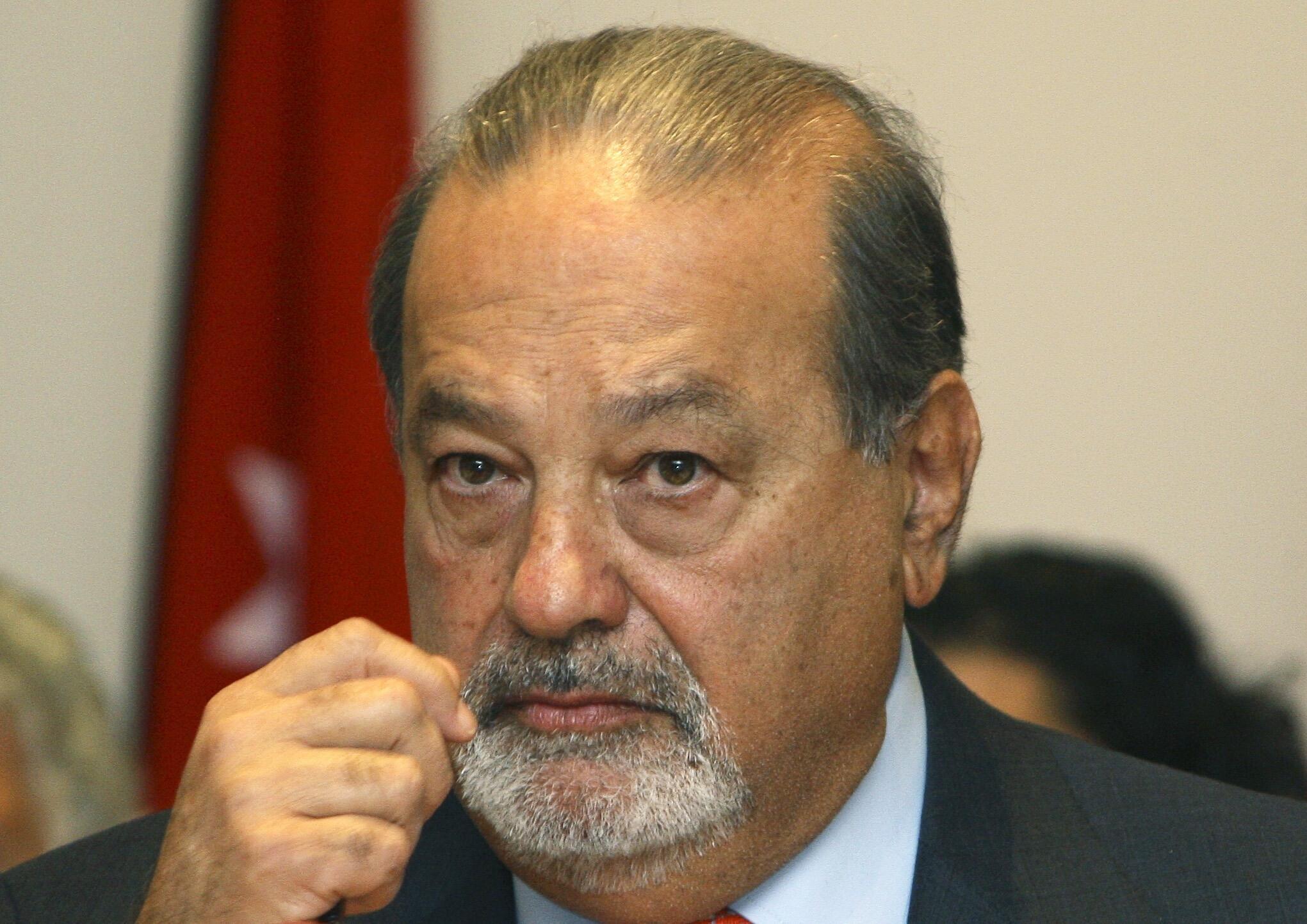 Foto de archivo del magnate Carlos Slim, al frente de Telmex.