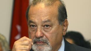 Foto de archivo del magnate Carlos Slim.