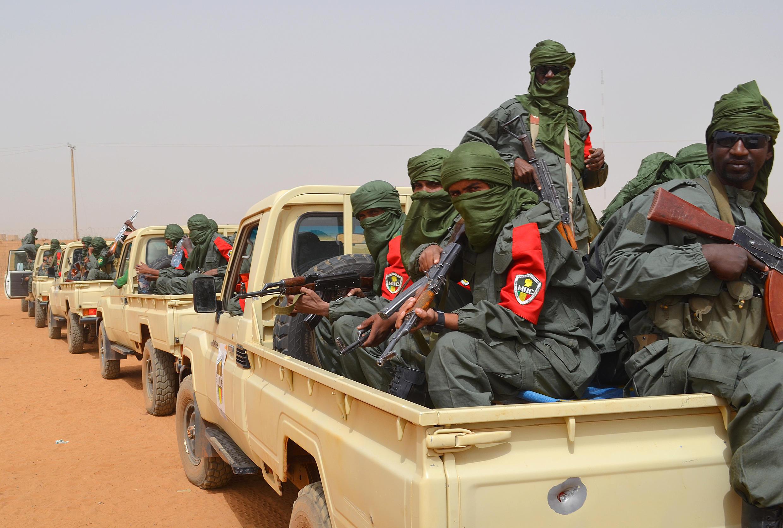 Patrouille militaire mixte de soldats de l'armée malienne et d'ex-combattants des groupes armés. Gao, le 23 février 2017. (Photo d'illustration)