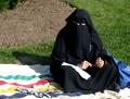 Muslim woman wearing a burka