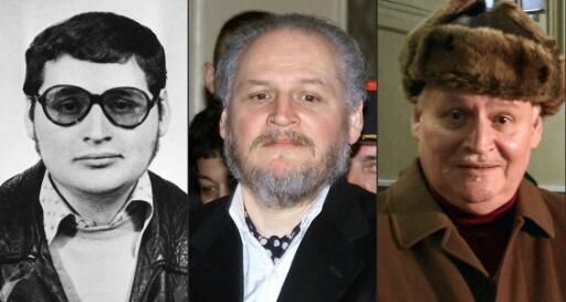"""Carlors, """"o Chacal"""", en 1970, quando ingressou a Frente de Libertação da Palestina, en 2001 y en 2013, en el marco de sus juicios en París"""