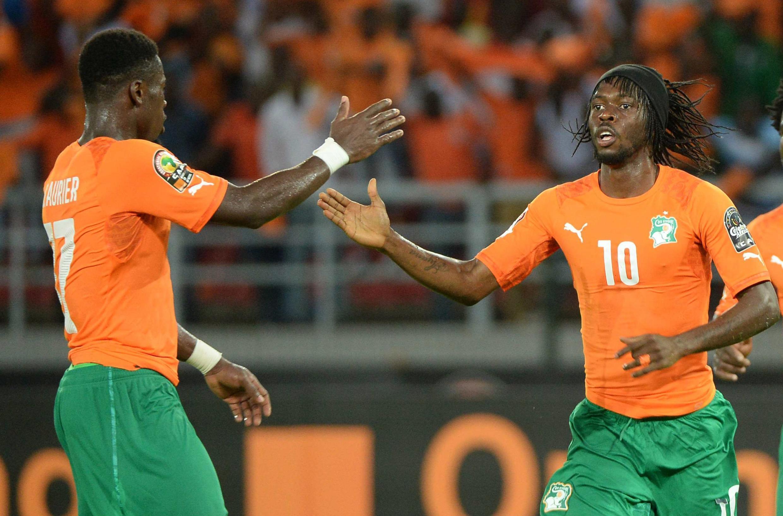 Gervinho sous le maillot de la Côte d'Ivoire lors de la CAN 2015.
