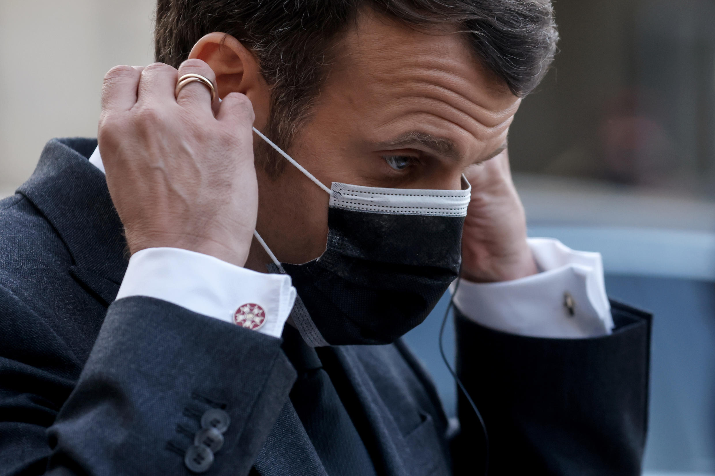 Macron is under sustained fire after taking personal responsibility for not ordering a third national lockdown at the end of January