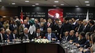 Церемония передачи власти в Анкаре 26/12/2013