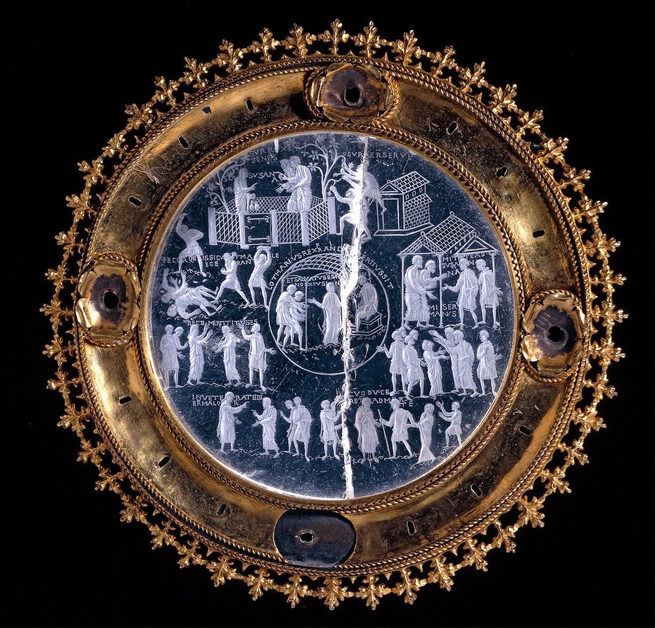 Cristal de Lotario, 855-869 D.C.