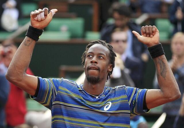 Gaël Monfils after his match against Ernests Gulbis, 29 May, 2013