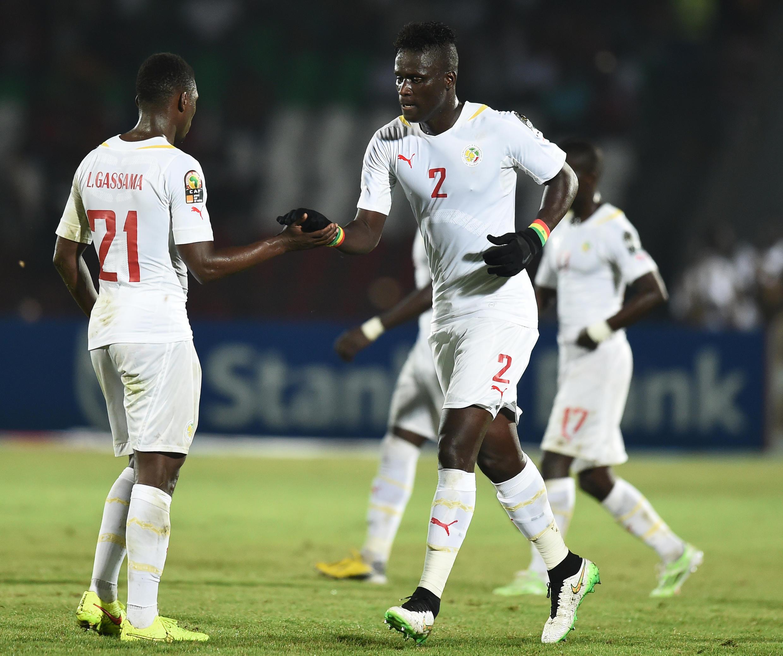 Les Sénégalais Lamine Gassama et Kara Mbodji.