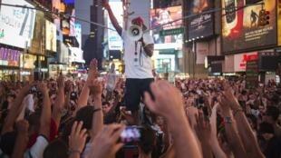 Biểu tình tại New York đòi công lý cho Trayvon Martin, Chủ nhật 14/07/2013