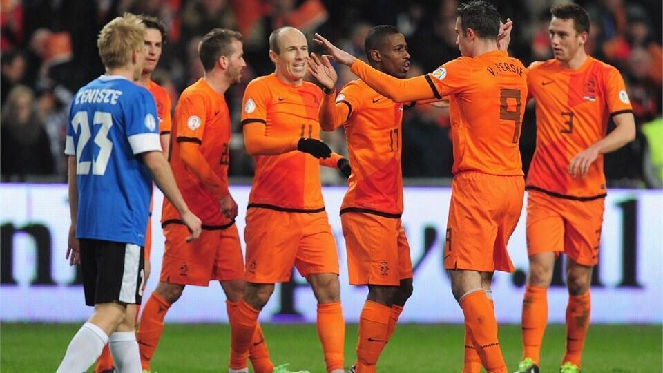 Hà Lan đã sáng tạo bóng đá 'tổng lực', nhưng chưa một lần đăng quang ngôi vô địch. Ảnh chụp ngày 22/03/2013 tại Amsterdam.