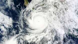 Imagem de satélite do furacãoOdile que atingiu região turística do México.