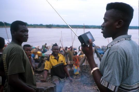 Sur les rives du fleuve Congo, près de Kisangani.