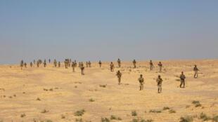 Entrainement de forces sunnites aux abords de Mossoul, le 6 octobre 2016.