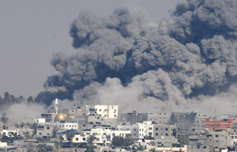 Faixa de Gaza a 29 de Julho de 2014 na sequência de um novo bombardeamento Israelita