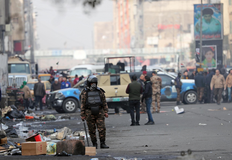 یکی از نیروهای امنیتی عراق در بغداد