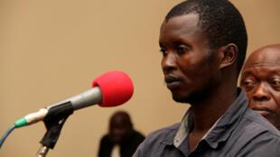 Le «général» Béré Béré, lors de l'audience du 15 janvier 2020, devant la cour d'appel de Bangui.