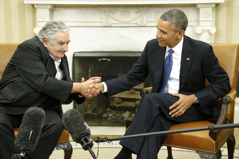 José Mujica y Barack Obama, en la Casa Blanca, Washington, este 12 de mayo de 2014.