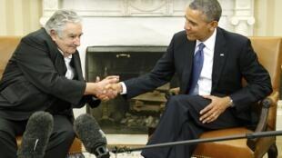 José Mujica y Barack Obama en la Casa Blanca, el pasado 12 de mayo de 2014.