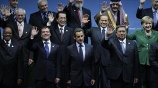 Foto de familia del G-20 en Seúl.