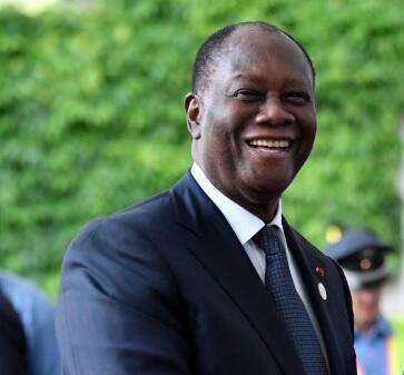Le président de la Côte d'Ivoire Alassane Ouattara.