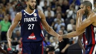 Rudy Gobert (left) said France's triumph over the United States was unbelievable.