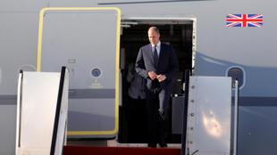 Príncipe William na chegada ao aeroporto de Ben Gourion, em Tel-Aviv.