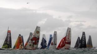 Старт гонки «Вандея Глоб», 10 ноября 2012 года