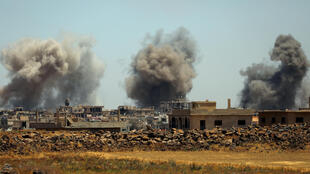 Бомбардировки в провинции Дераа, 25 июня 2018.
