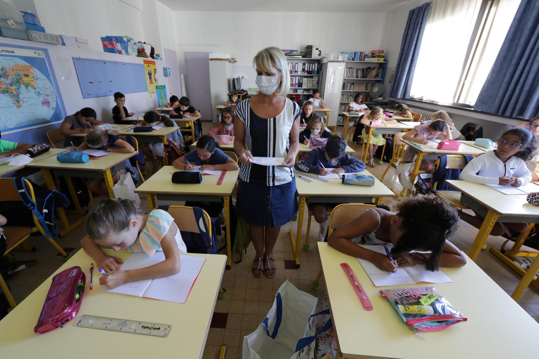 Salle de classe, dans une école à Nice (France), le 1er septembre 2020.