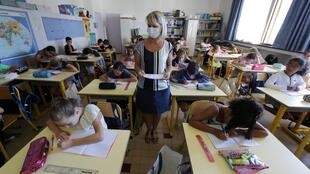 Salle de classe, école des Magnolias, Nice, le 1er septembre 2020.