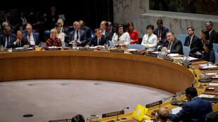 Ngoại trưởng Mỹ, Mike Pompeo chủ trì cuộc họp tại Hội Đồng Bảo An Liên Hiệp Quốc, New York, ngày 27/09/2018.