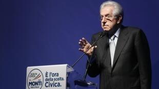 Le Premier ministre italien, Mario Monti, à Rome, le 15 février 2013.