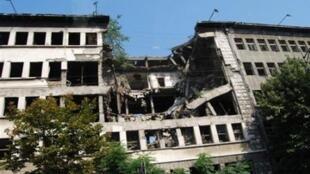 圖為中國網絡傳當年中國駐南斯拉夫大使館遭美國轟炸後照片