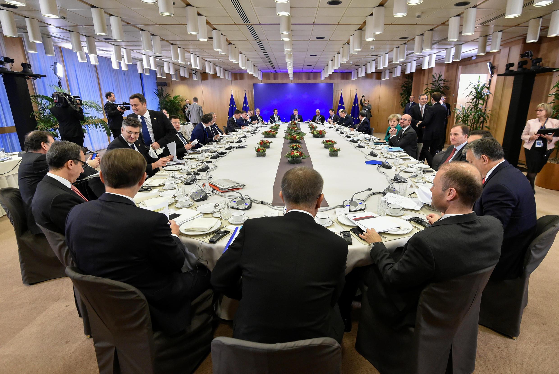 Hội nghị thượng đỉnh Liên Hiệp Châu Âu tại Bruxelles (Bỉ) ngày 15/12/2017.