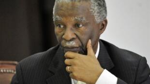 L'ancien président sud-africain, Thabo Mbeki, le 5 décembre 2010. (Photo d'illustration).