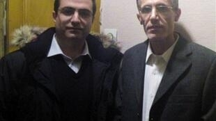 احمد ملکی، دیپلمات ایرانی در ایتالیا همراه با محمدرضا حیدری، کنسول سابق ایران در نروژ