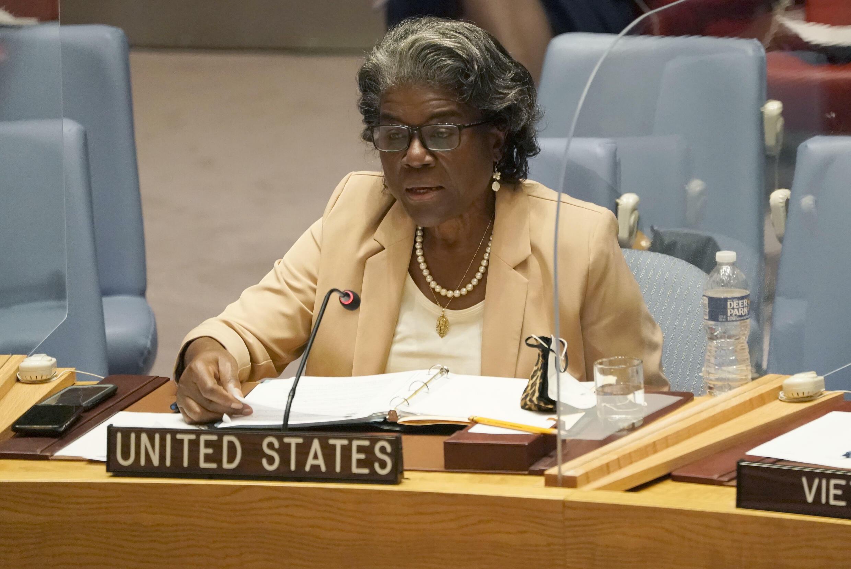 La embajadora estadounidense ante la ONU, Linda Thomas-Greenfield, el 16 de agosto de 2021 en la sede de Naciones Unidas en Nueva York