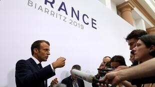 Президент Франции Эмманюэль Макрон на саммите G7