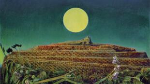 """""""A cidade inteira"""", quadro de Max Ernst que faz parte da mostra atualmente em cartaz em Basileia, na Suíça."""