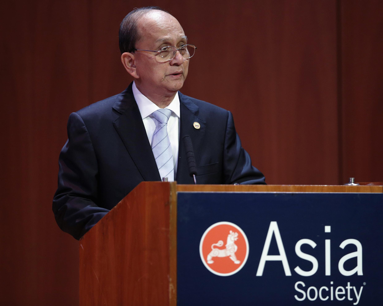 Tổng thống Miến Điện Thein Sein phát biểu tại tổ chức Asia Society, New York, 27/09/2012