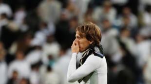 Luka Modric, del Real Madrid, al final del pertido, este 5 de marzo de 2019 en el estadio Santiago Bernabeu.
