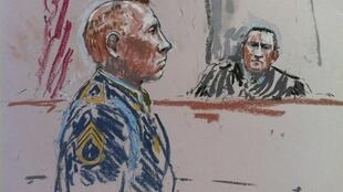 Le sergent Robert Bales représenté lors du procès.