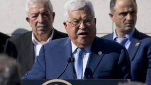 Le président de l'Autorité palestinienne Mahmoud Abbas, lors d'une conférence de presse à Ramallah, le 11 novembre 2019.