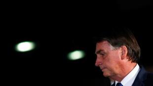 Le président brésilien Jair Bolsonaro à Brasilia, le 23 février 2021.