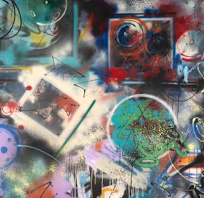 FUTURA 2000-1985 (1), une œuvre présentée à l'Exposition Post-graffiti au Château de Forbin à Marseille (capture d'écran).