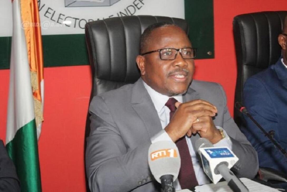 Ibrahim Coulibaly-Kuibiert est le président de la Commission électorale indépendante (CEI) en Côte d'Ivoire.