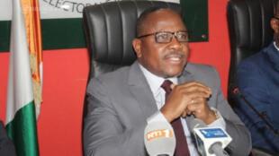Ibrahim Coulibaly-Kuibiert, président de la Commission électorale indépendante (CEI) en Côte d'Ivoire.