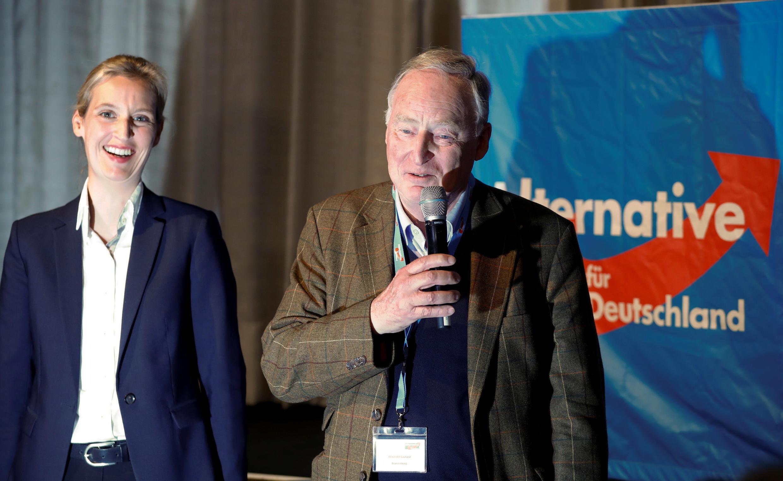 Alice Weidel et Alexander Gauland, les deux chefs de file de l'AfD en Allemagne.