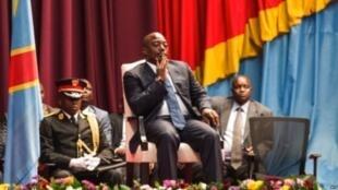 Rais wa DRC Joseph Kabila katika kikao maalum cha Bunge baada ya kujiuzulu kwa Waziri Mkuu Augustin Matata, Novemba 15, 2016.