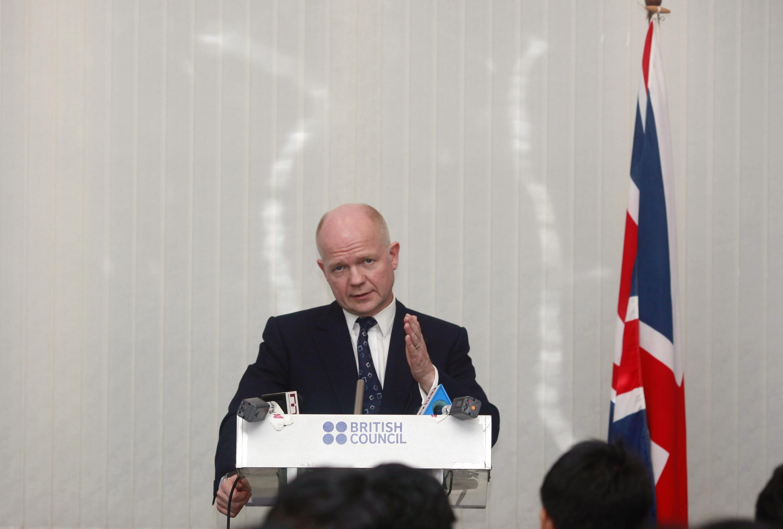 O ministro das Relações Exteriores da Grã-Bretanha, William Hague.